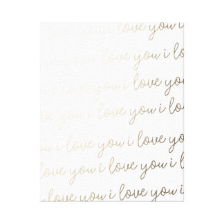 I Love You I Love You I Love You Canvas Art Print