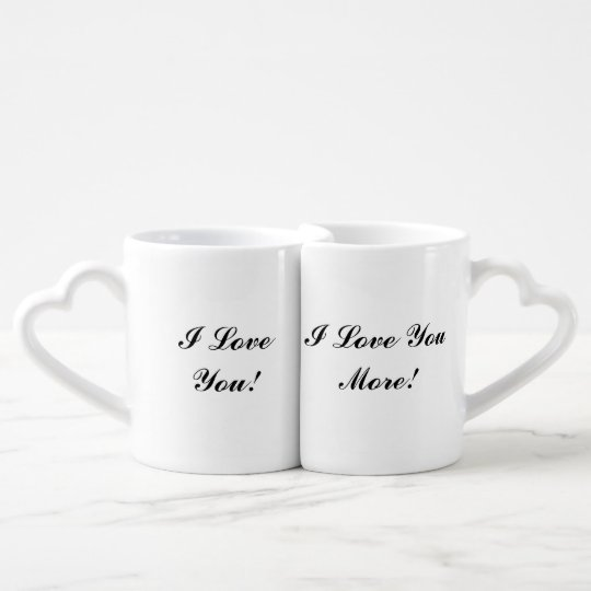 """I Love You/I Love You More"" Nesting Mugs"