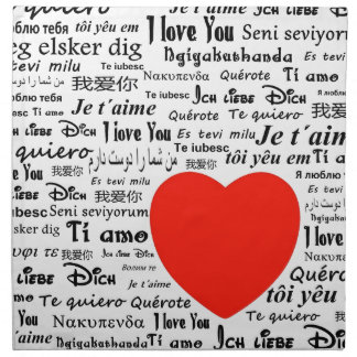 love you in different languages cloth napkinI Love You In Different Languages