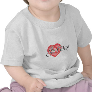I love you in French - Je t aime Tees