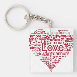 ***I LOVE YOU IN MANY LANGUAGES*** KEY CHAIN