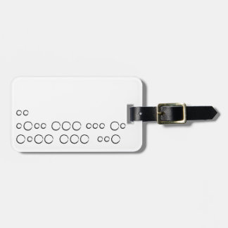 """I love You"" in morse code, rough circles Luggage Tag"