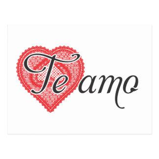 I love you in Spanish - Te amo Postcard