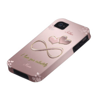 I love you infinitely Valentine's Day  pink Vibe iPhone 4 Cover