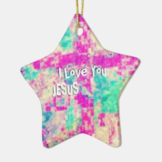 I Love You JESUS Ceramic Ornament