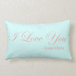 I Love You - Jesus Christ Lumbar Pillow