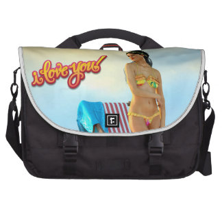 I Love You Keira Laptop Messenger Bag