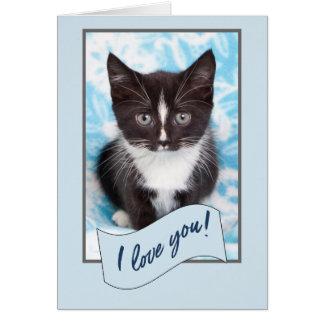 I love you kitten card