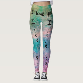 I love you Leggings by DAL