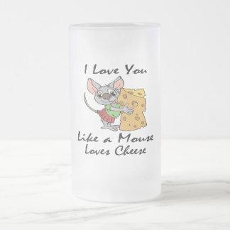 I Love You Like A Mouse Loves Cheese black Coffee Mug