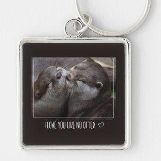 I Love You Like No Otter Cute Photo Keychain