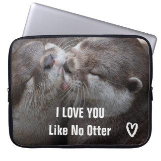 I Love You Like No Otter Cute Photo Laptop Sleeve