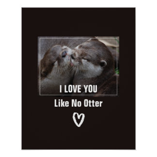 I Love You Like No Otter Cute Photo Poster