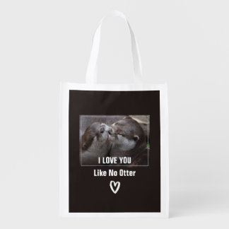 I Love You Like No Otter Cute Photo Reusable Grocery Bag
