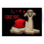 I love you Llama cute valentine's day card