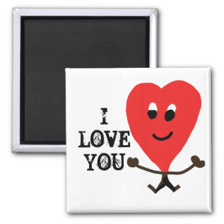 i love you magnet with a happy heart