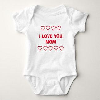 ❤❤I LOVE YOU MOM ❤❤ / ADD MOM 'N BABY PHOTO BABY BODYSUIT