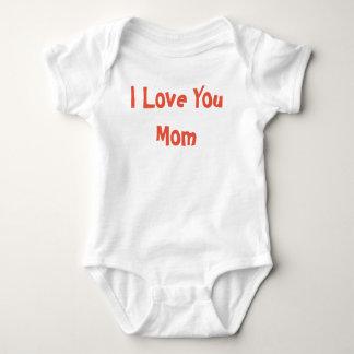 I Love You Mom Baby Bodysuit