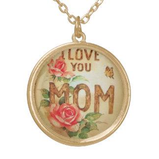 """I LOVE YOU MOM"" CHRISTMAS PENDANT NECKLACE"
