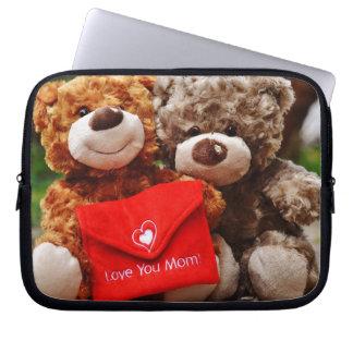 I LOVE YOU MOM - Cute & Cuddly Teddy Bears Computer Sleeves