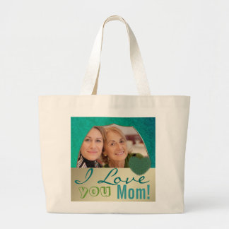 I love you mom photo frame template bags