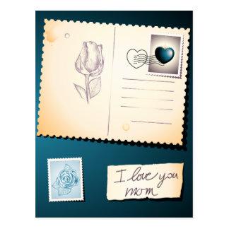 I love you mom, postcard