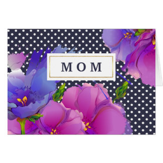 I Love You, Mom. Spring Flowers Mother's Day Cards