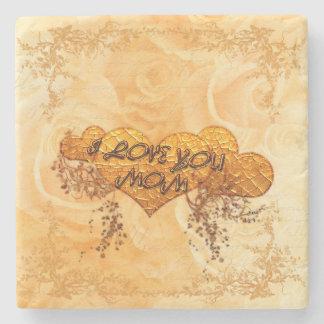 I love you mom stone coaster