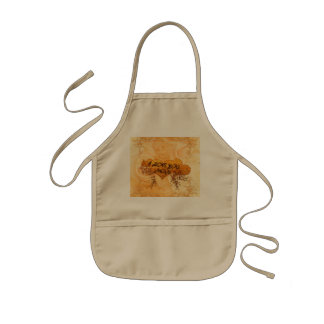 I love you mom with hearts and roses kids apron