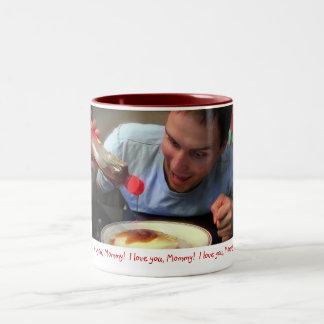 """I Love You Mommy!"" Two-Tone Coffee Mug"
