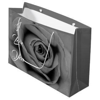 I Love You Monochromatic Rose Gift Bag