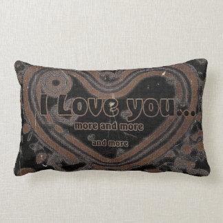 I Love You More And More Lumbar Pillow