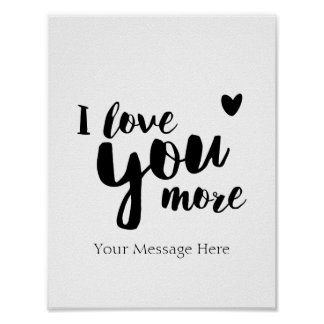 I Love You More Personalized Romantic Wall Art