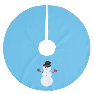 I Love You More Snowman Brushed Polyester Tree Skirt