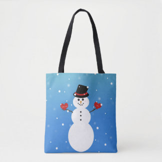 I Love You More Snowman Tote Bag