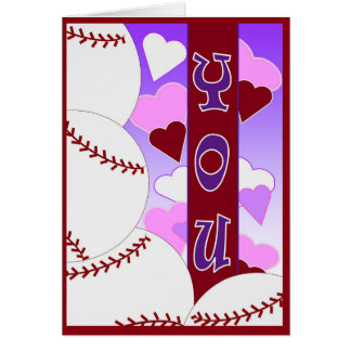 I Love You More Than Baseball - Valentine Card