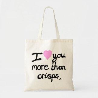 I Love You More Than Crisps Bag