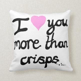 I Love You More Than Crisps Cushion