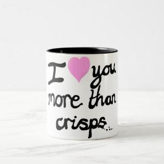 I Love You More Than Crisps Mug