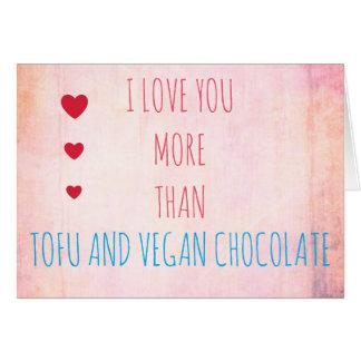 'I love you more' VEGAN VALENTINE Greeting card
