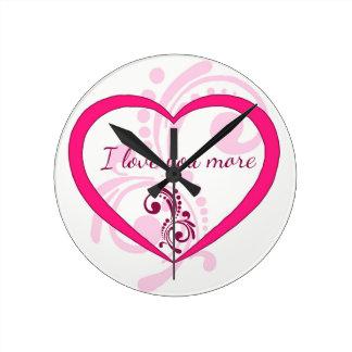 I love you more wall clocks