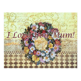 I love you mum - Postcard