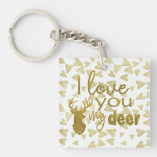 I Love You My Deer Keychain