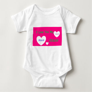 'I Love You My Jesus' Baby Romper