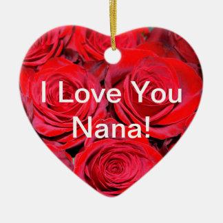 I Love You Nana Rose Ornament