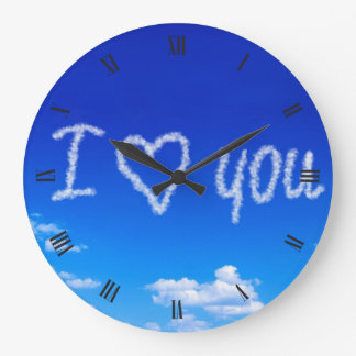 I love you on clouds clocks
