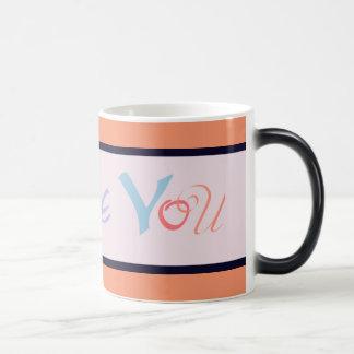 I love you- orange magic mug