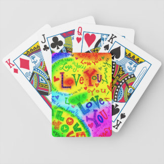 I LOVE YOU Painting Bicycle Playing Cards