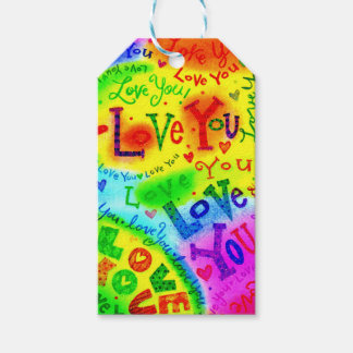 I LOVE YOU Painting Gift Tags