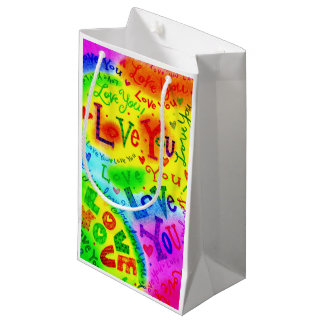 I LOVE YOU Painting Small Gift Bag